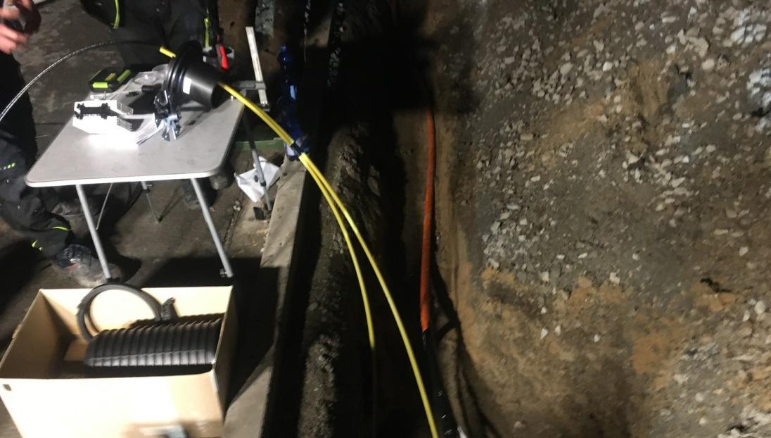 Notdienst Glasfaser Baugrube